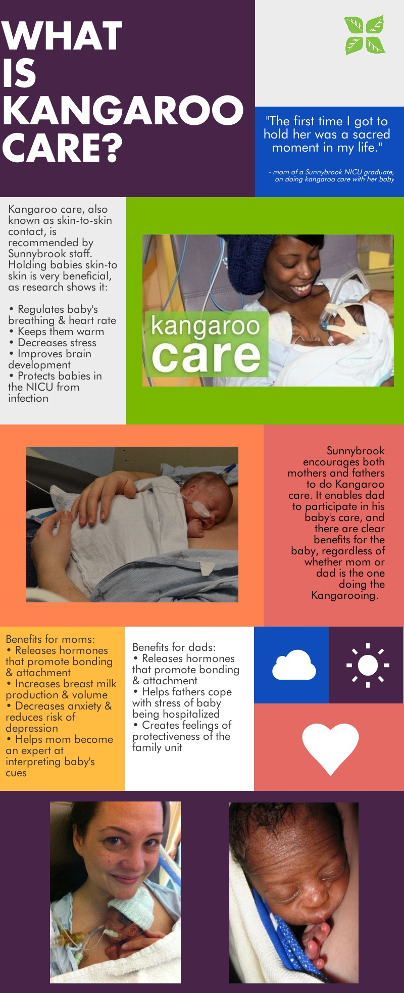 What is kangaroo care? - infographic