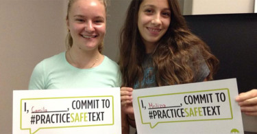 "Teens take ""practice safe text"" pledge"