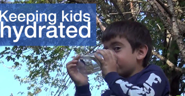 Keeping kids hydrated - child drinking water