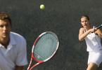 Mixed Doubles Tennis match
