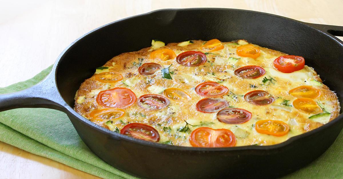 Tomato Basil Frittata Bed Breakfast