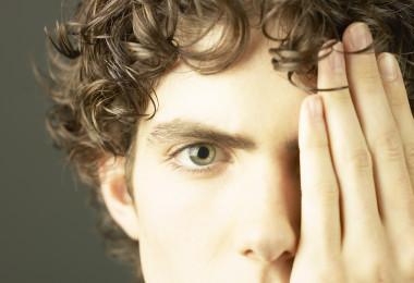 close up of teen's eye