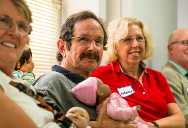 Soon-to-be grandparents attending a grandparent class