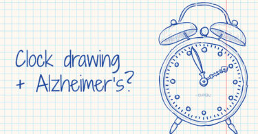 Clock drawing + Alzheimer's?