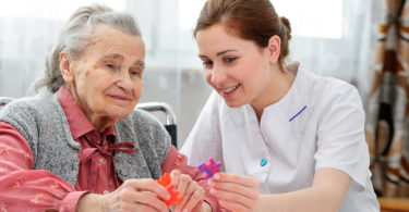 Dementia patient and caregiver