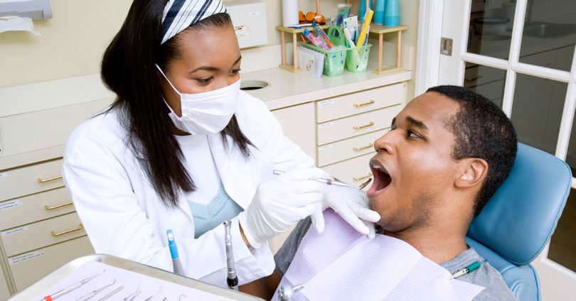 Person at dentist