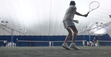 80-year-old tennis champion Inge Weber