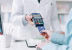 Woman purchasing medication