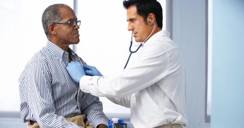 Man at doctor's appointment
