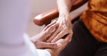 Woman in nursing home