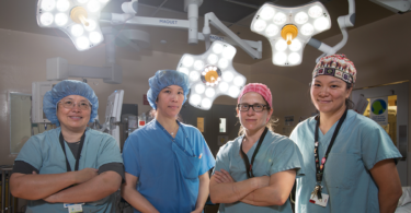 gynecological surgery team