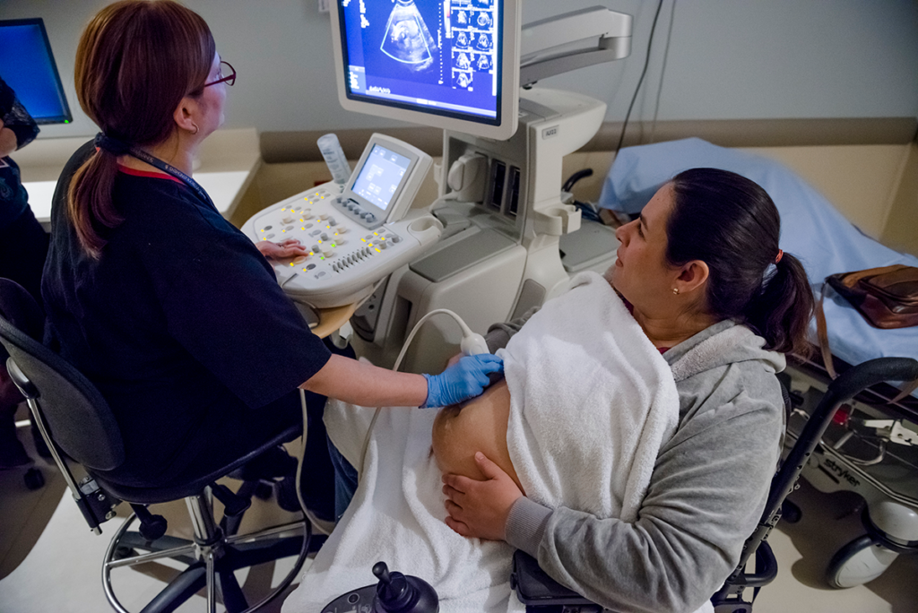 Dalia getting ultrasound while pregnant