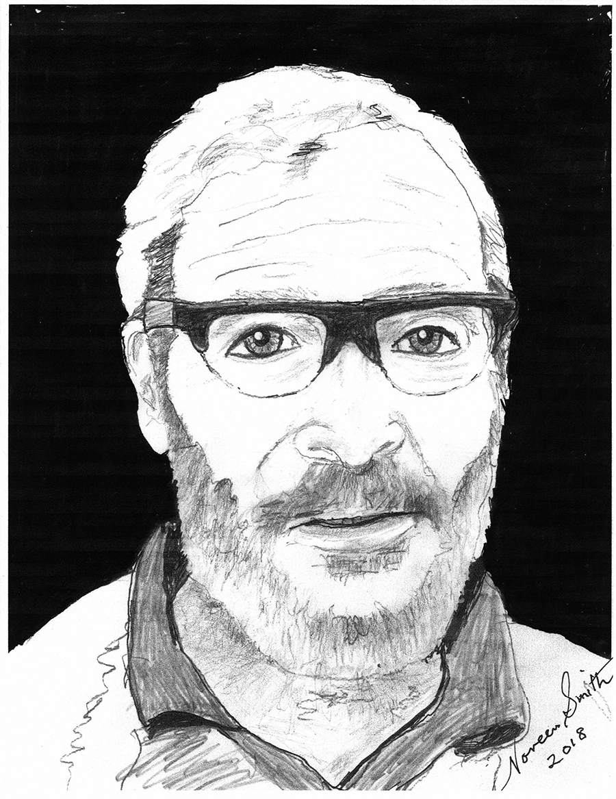 Dr. Michael Schwartz: A neurosurgeon and a gentleman, drawn by Noreen Smith.