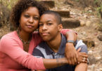 mom and teen son