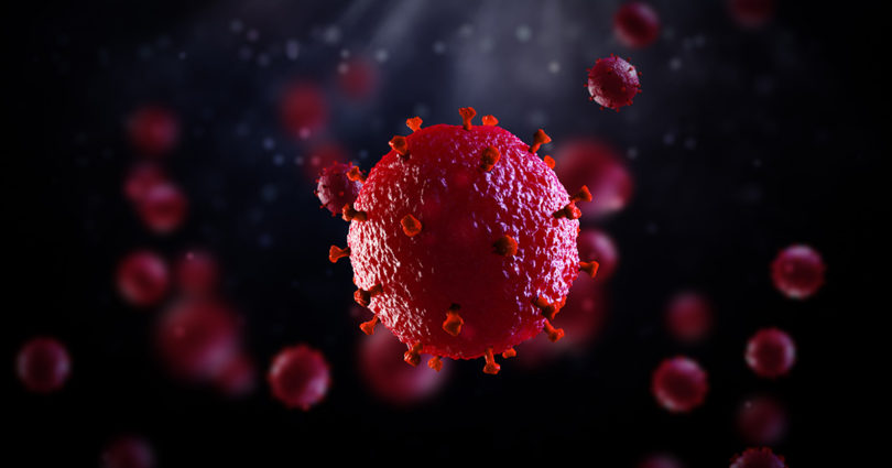 Medical illustration of HIV