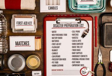 Emergency kit and preparedness checklist