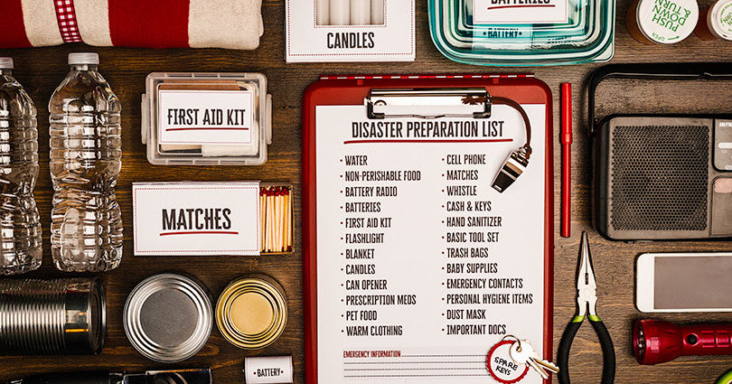Emergency kit and preparedness checklist