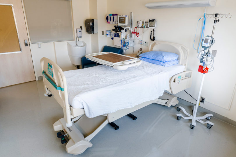 A room in the new Complex Malignant Hematology Unit.