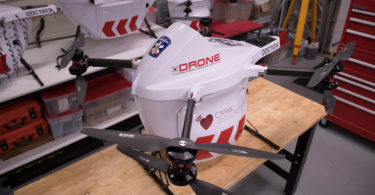 drone carrying defibrillator