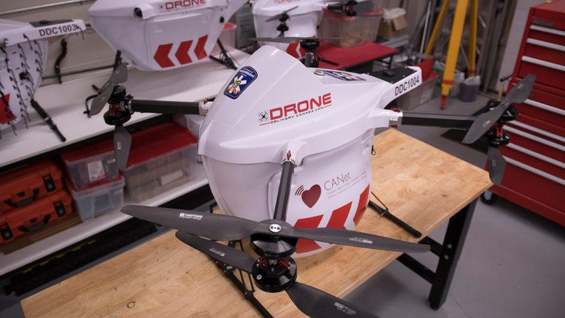 drone carrying defibrillator