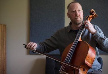 paul playing violin