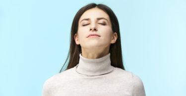 Woman pausing to take a breath