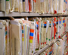 Medical records at doctor's office