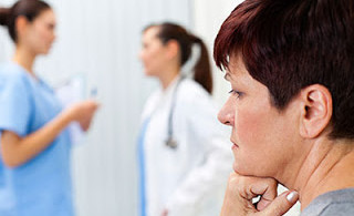 Woman waiting to get her diagnosis