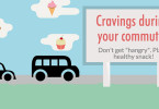 Cravings during your commute? Snack now. Feel good later.