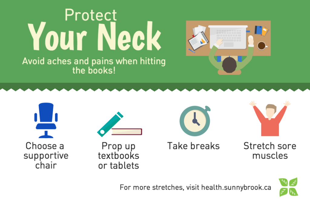 Protect your neck: avoid aches and pains when hitting the books!
