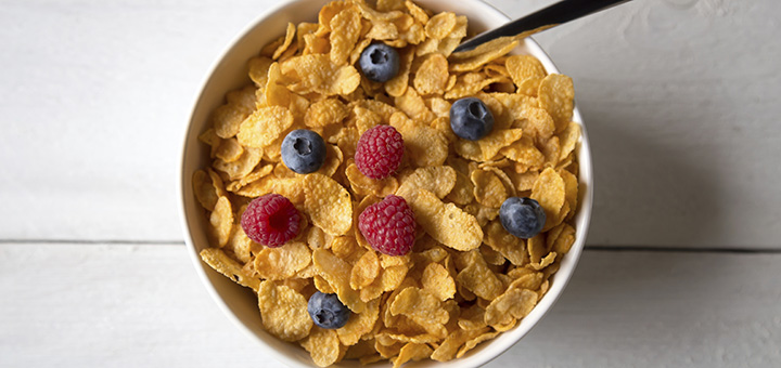 Cereal with fruit