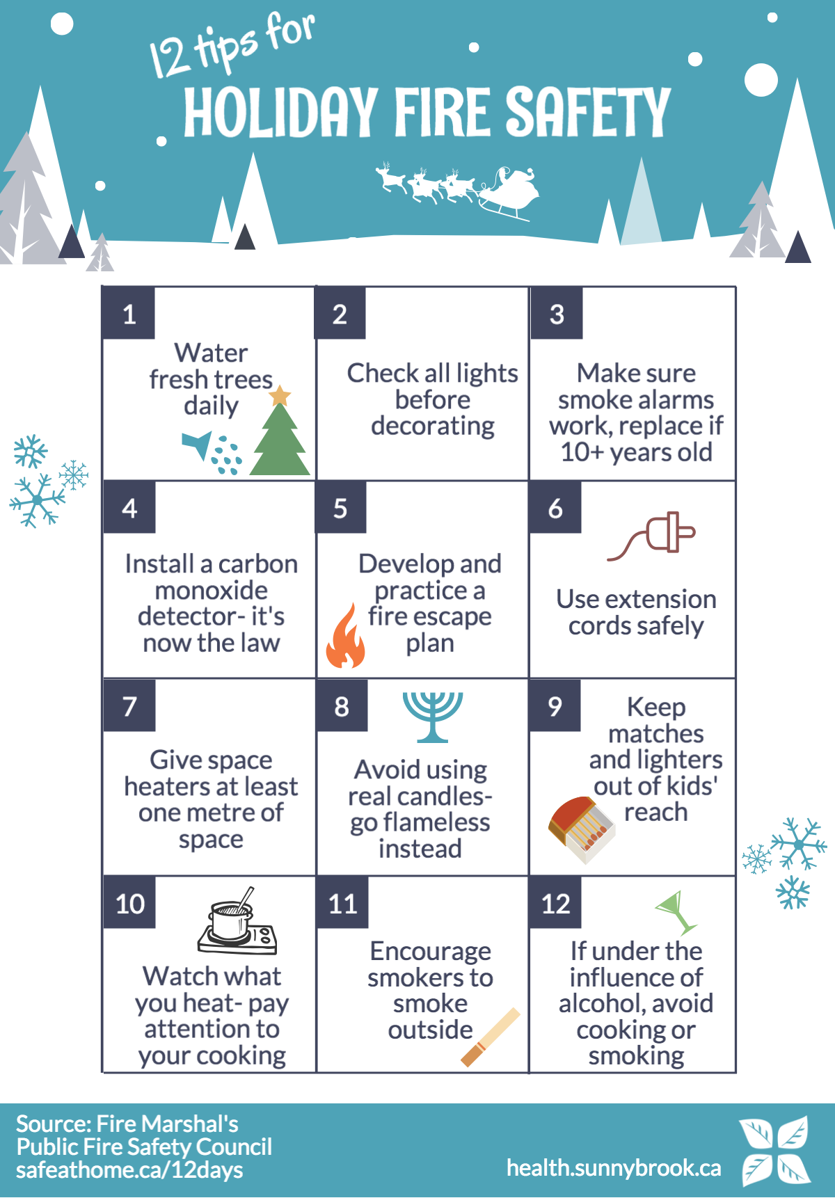 12 Holiday Fire Safety Tips