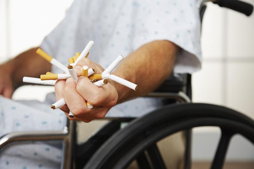 patient squishing cigarettes