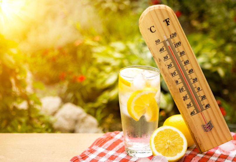 heat wave and lemon water