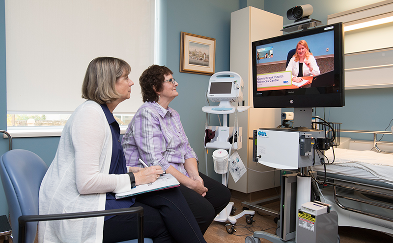 Olive Climo uses telemedicine to attend her appointments with her oncologist Dr. Natalie Coburn