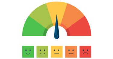 mood scale - happy face to sad face