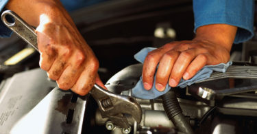 Mechanic's hands
