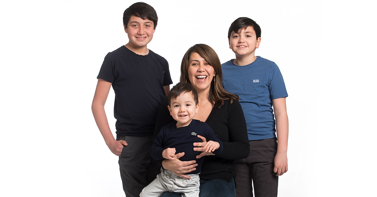 yvonne and her kids