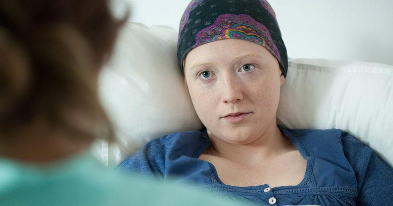 hospital patient listening to healthcare practioner
