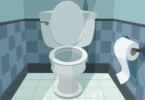 drawing of toilet