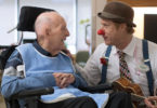 Therapeutic clown with veteran