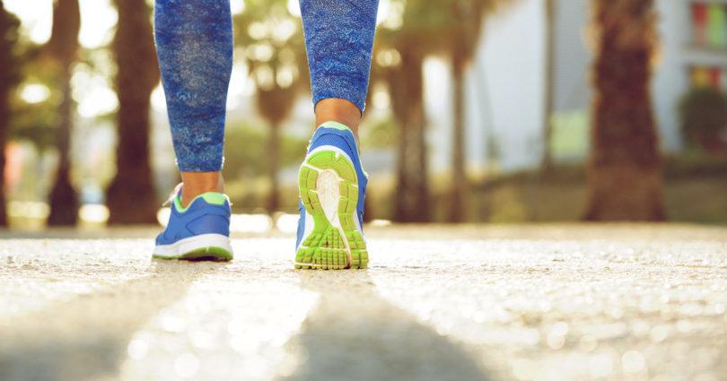 running shoes_ woman walking