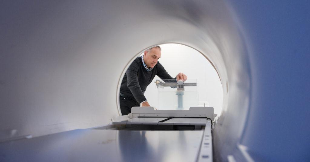 Brian Keller testing MR-Linac