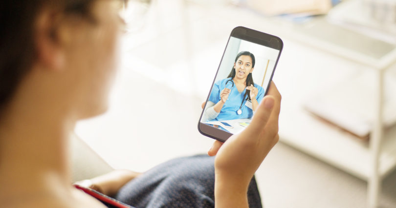 patient talking to doctor on video chat