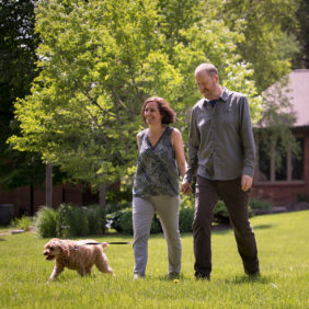 Paul Hudspith with his wife, Francine, and dog, Beau