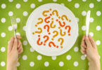Question marks on a plate