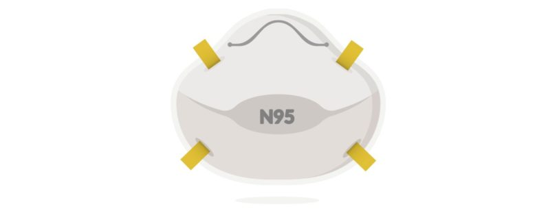 N95 mask illustration