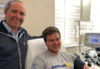 Richard and Patrick Carl donate plasma.