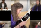 Musicians sing Happy birthday virtually to a patient.