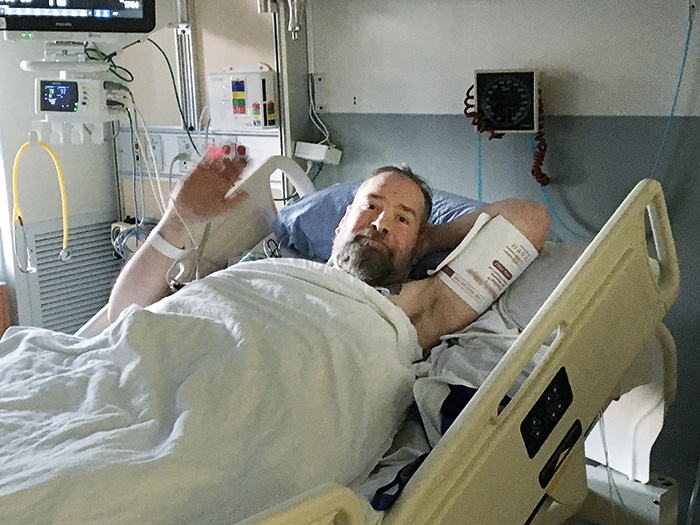 Mark in his room at Sunnybrook